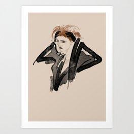 Black Boudoir Art Print