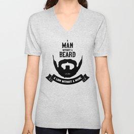 A man without a beard Unisex V-Neck