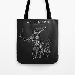 Wellington, New Zealand Street Map Tote Bag