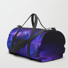 Blue and Purple Circles 1 Duffle Bag
