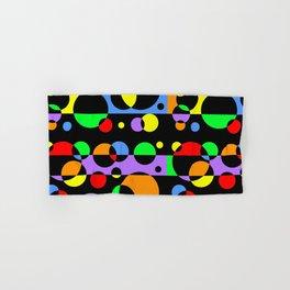 Rainbow Geometric Multicolored Modern Circle Pattern Hand & Bath Towel