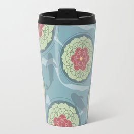 Koi Lotus Pond Travel Mug