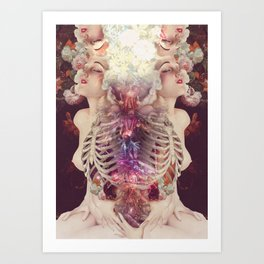 affinity *collage Art Print