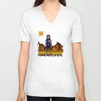 n7 V-neck T-shirts featuring 8bit sequal? by pixel.pwn | AK