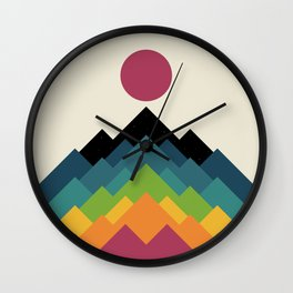Life Is A Mountain Wall Clock