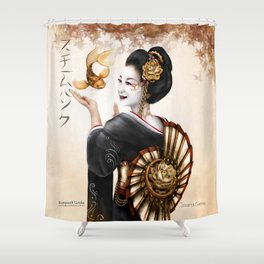 Steampunk Geisha Shower Curtain