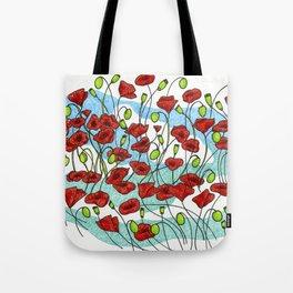 Field Poppies Tote Bag