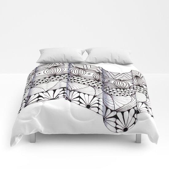 Zentangle Architectural Molding Comforters