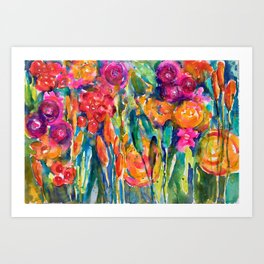 Mexican Bouquet Color Flowers Art Print
