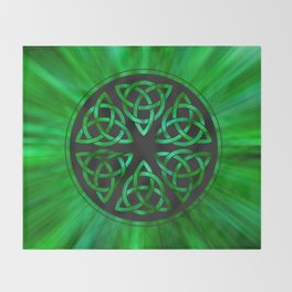 Celtic Knot Star Flower Throw Blanket