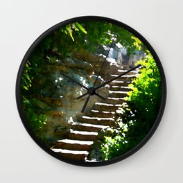 Staircase and Solitude Wall Clock