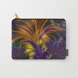 Fractal feather Carry-All Pouch