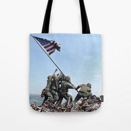 Iwo Jima Color Tote Bag