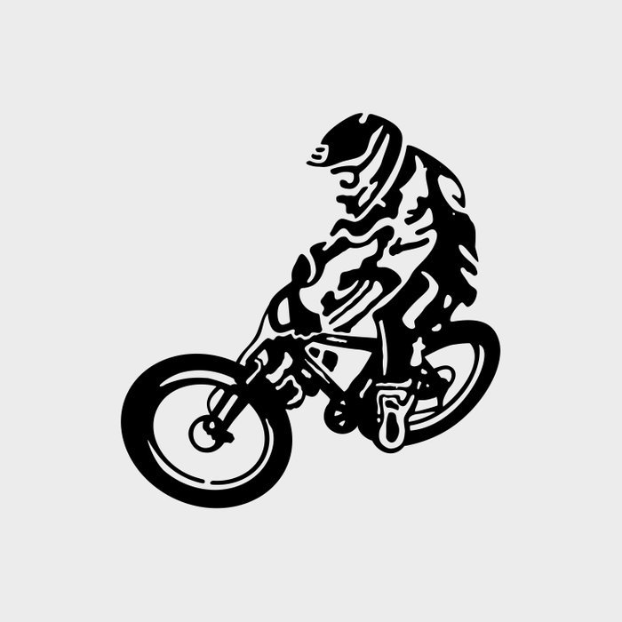 Mountain Bike Duvet Cover