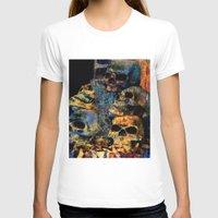 skulls T-shirts featuring Skulls By Annie Zeno by Annie Zeno