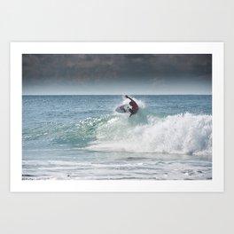Legend & Pro Surfer Kelly Slater, France, 2013 Art Print