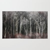 ohio Area & Throw Rugs featuring Ohio Trees by David Pringle