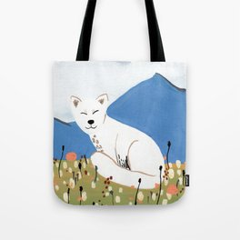 Smiling Arctic Fox Tote Bag