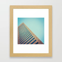 Diagonal Architecture Abstract Framed Art Print
