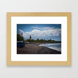 Maui beach scene Framed Art Print