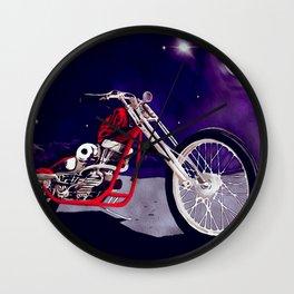 Old Bike Art Wall Clock