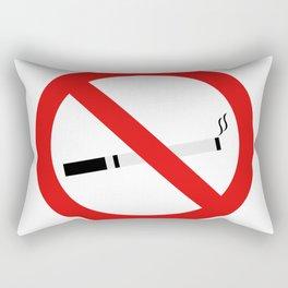 no smoking sign Rectangular Pillow