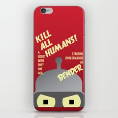 Kill All Humans iPhone & iPod Skin