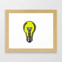 Light bulb Idea! Framed Art Print