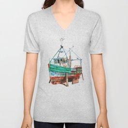 Desert boat Unisex V-Neck
