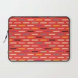 Modern Scandinavian Dash Red Laptop Sleeve