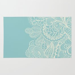 Abstract Nature In Aqua Rug