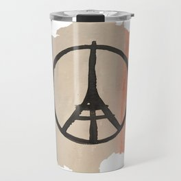 Outline of France with Tri-color Peace Travel Mug