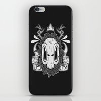 sasquatch iPhone & iPod Skins featuring Sasquatch Skull by Urban Sasquatch
