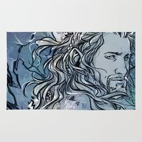 fili Area & Throw Rugs featuring The Hobbit - Fili by lorna-ka