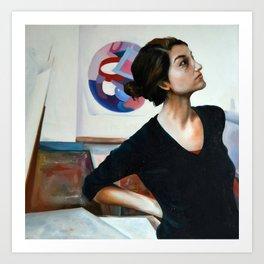 Wondering, 2011, 100-100cm, oil on canvas Art Print