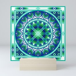 Sacred Places Green Mini Art Print
