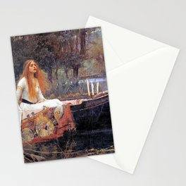 THE LADY OF SHALLOT - WATERHOUSE Stationery Cards