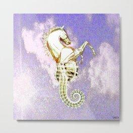 mythological hippocampus Metal Print
