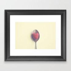 Raspberry love Framed Art Print