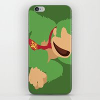 donkey kong iPhone & iPod Skins featuring Donkey Kong(Smash)Green by ejgomez