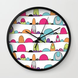 Mid Century Patterns and Illustration Wall Clock