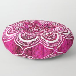 Mandala Hot Pink Colorburst Floor Pillow