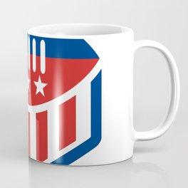 American Football USA Flag Crest Icon Coffee Mug