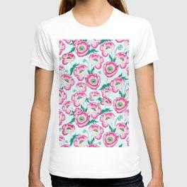 Pink Poppy Flowers T-shirt