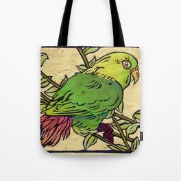 Parrot Linocut Tote Bag