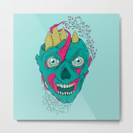 Forest Zombie Metal Print