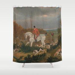 The Suffolk Hunt - John Frederick Herring Shower Curtain