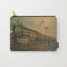 Night Scene on the NY Central Railroad (1884) Carry-All Pouch