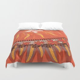Mauna Kea Hawaiian Sun Tribal Print Duvet Cover