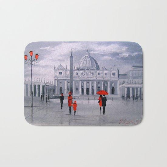 Walking in Rome Bath Mat